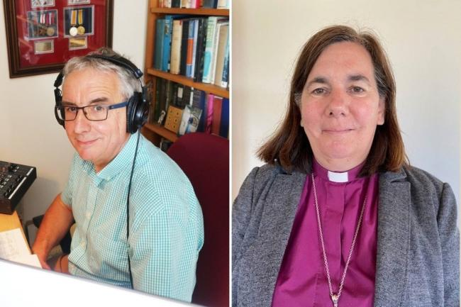 Canon Tim Daykin and Bishop of Sherborne Rt Revd Karen Gorham