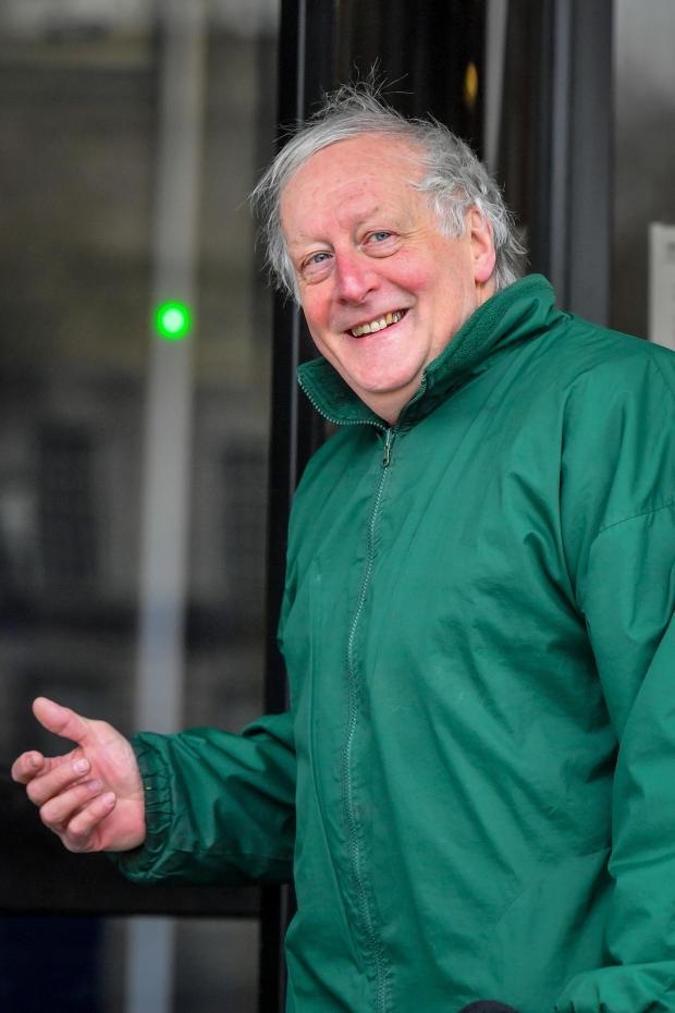 Salisbury Journal: Former teacher John Ap Evans, 67, arrives at Swansea Crown Court