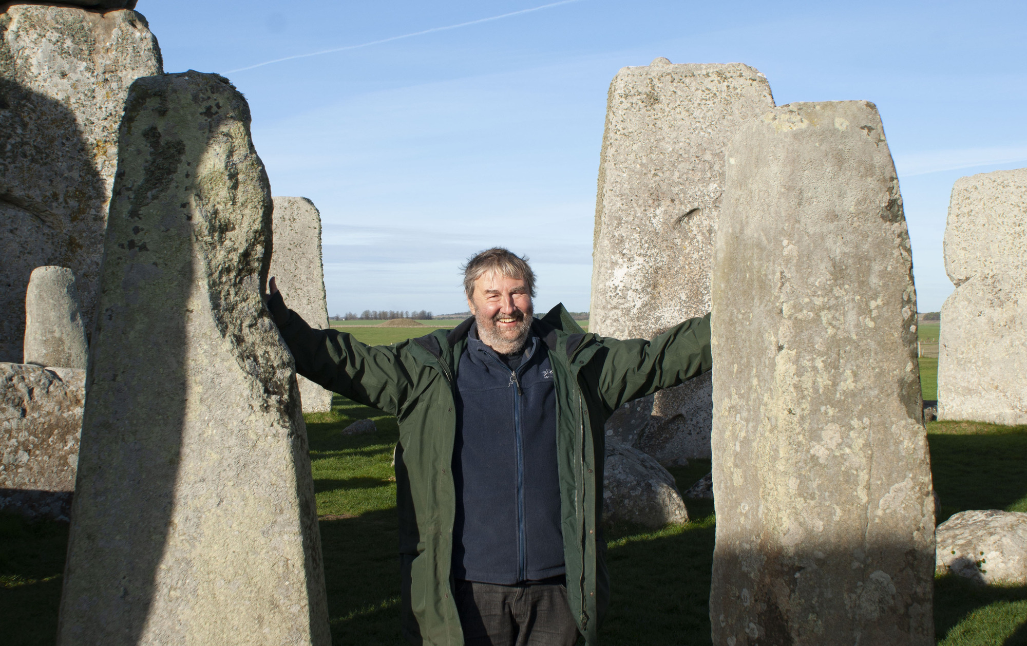 Professor Mike Parker Pearson at Stonehenge - Picture Barney Rowe/ BBC. Copyright PA Media