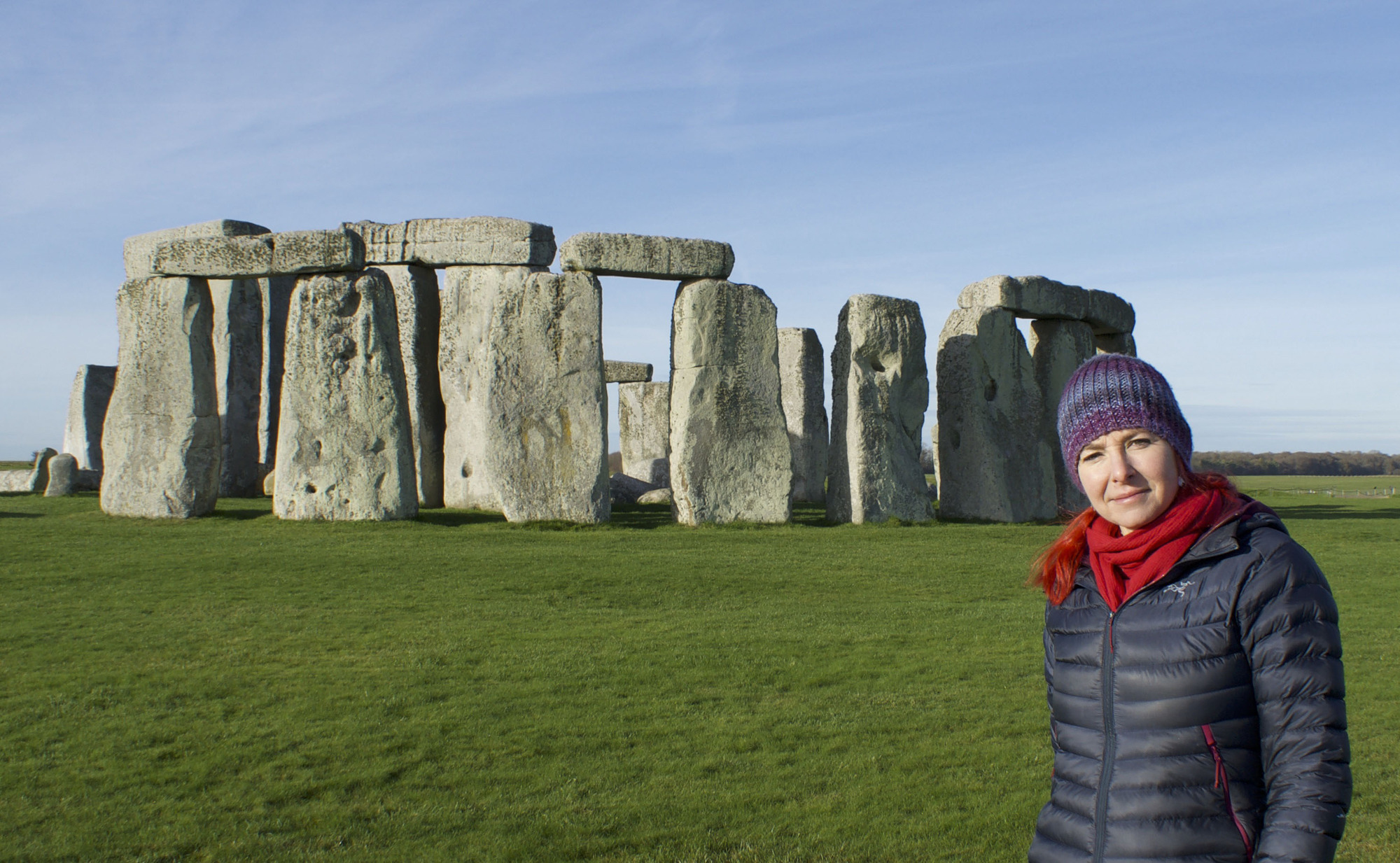Professor Alice Roberts at Stonehenge - Picture by Barney Rowe/ BBC. Copyright PA Media