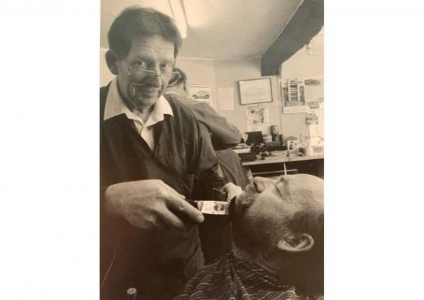 Salisbury Journal: John in his days as a barber