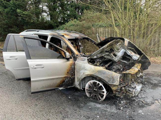 Firefighters were called to a car fire on the A31 Picture: Ringwood Fire Station Twitter