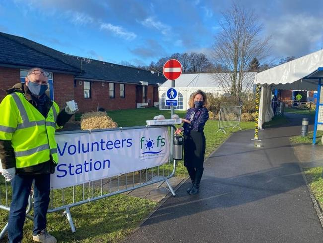 Volunteers have been helping support the vaccination rolleout at the Fordingbridge Hospital site   Picture: The Fordingbridge Surgery Facebook page