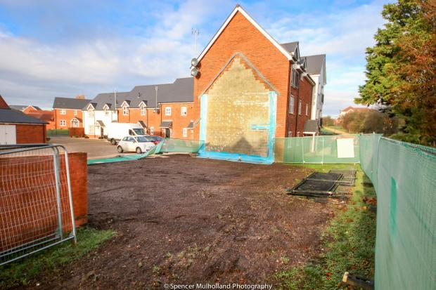 Salisbury Journal: Muggleton Road after Charlie Rowley's flat was demolished. Picture by Spencer Mulholland