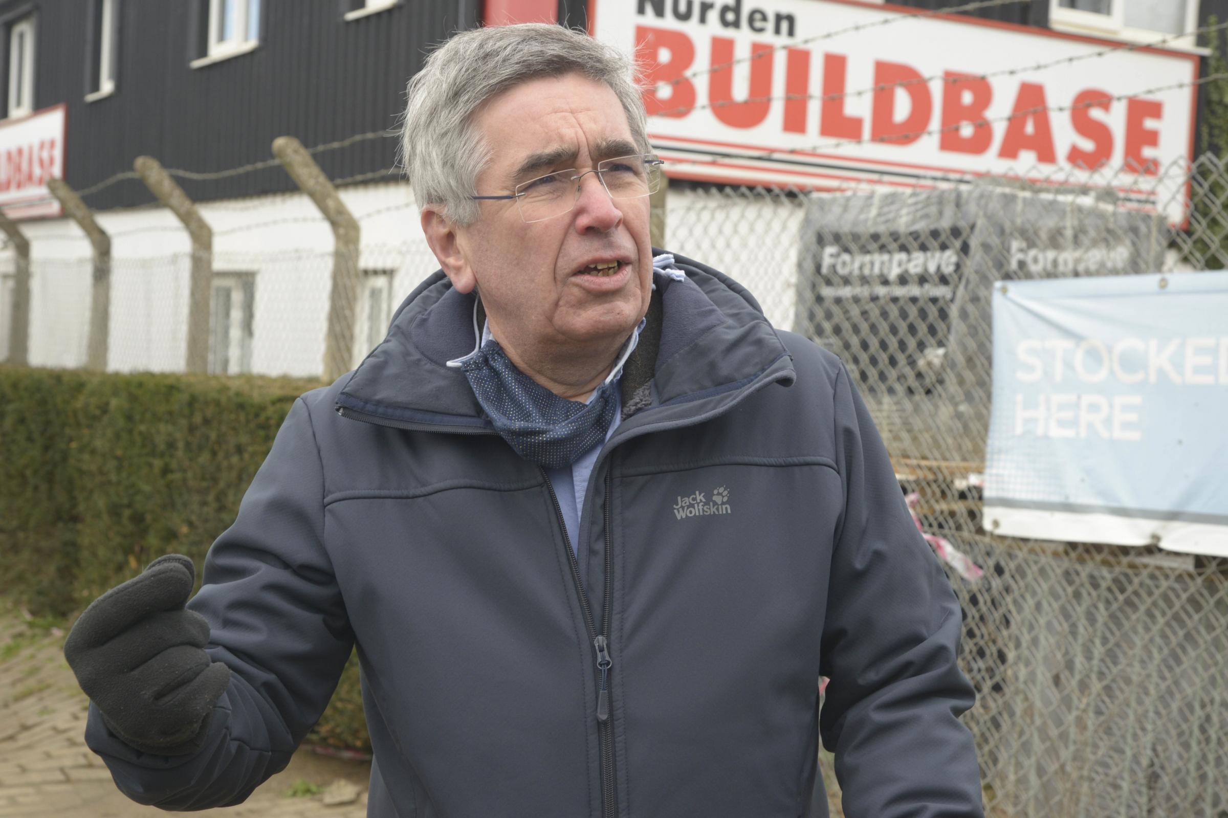 Malmesbury Town mayor, Campbell Ritchie Photo Trevor Porter