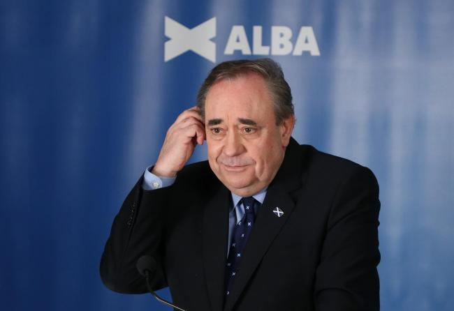 Alex Salmond at a Alba launch event (Credit: PA)
