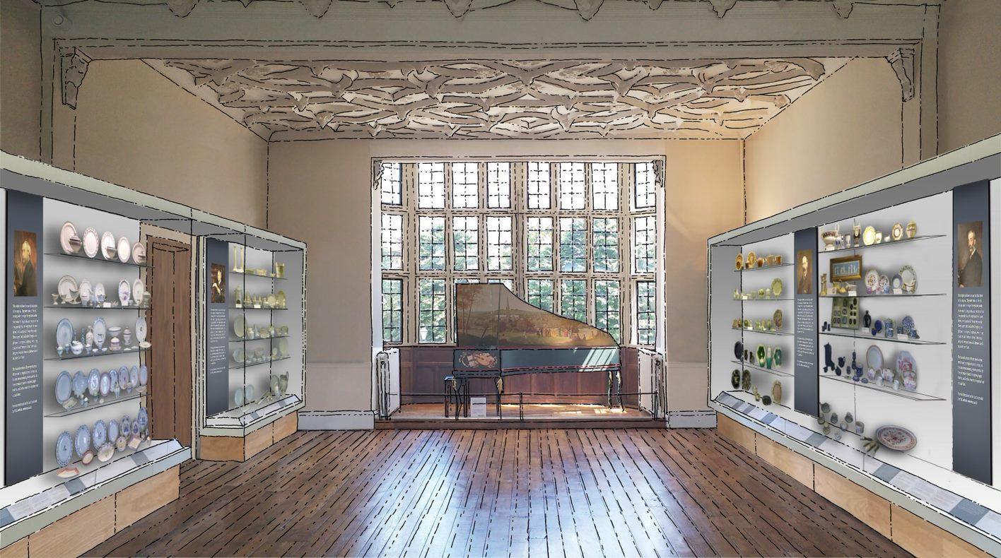 Ceramics gallery as proposed