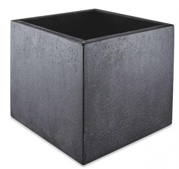 Salisbury Journal: Black Square Terrazzo Plant Pot. (Aldi)