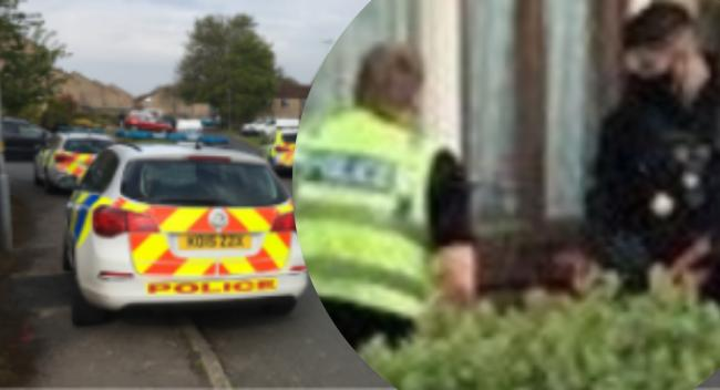 Police carrying out drugs raids in Wiltshire (Credit: Wiltshire Police)