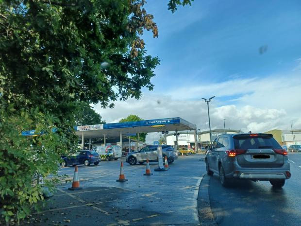 Tesco petrol station, Southampton Road, this morning, September 28