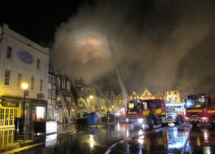 Firefighters still at Market Place fire