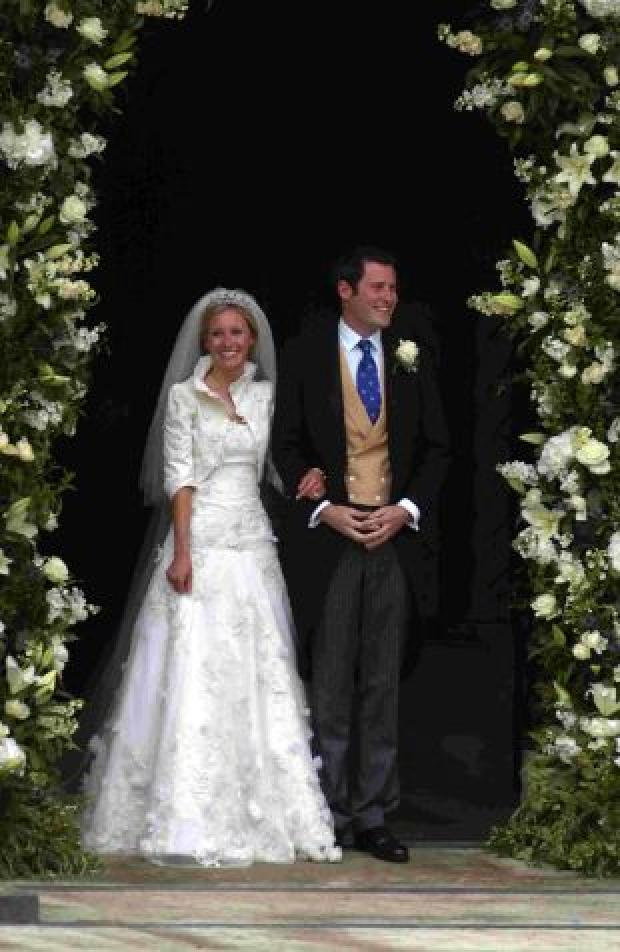 Salisbury Journal: Lord and Lady Pembroke on their wedding day last year