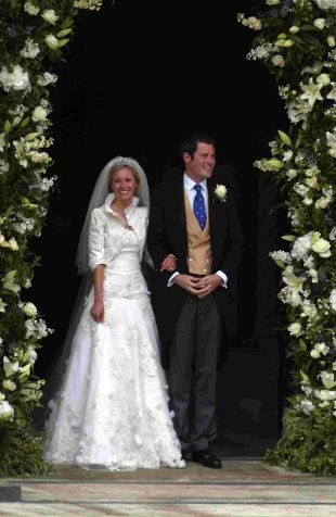 Lord and Lady Pembroke on their wedding day last year