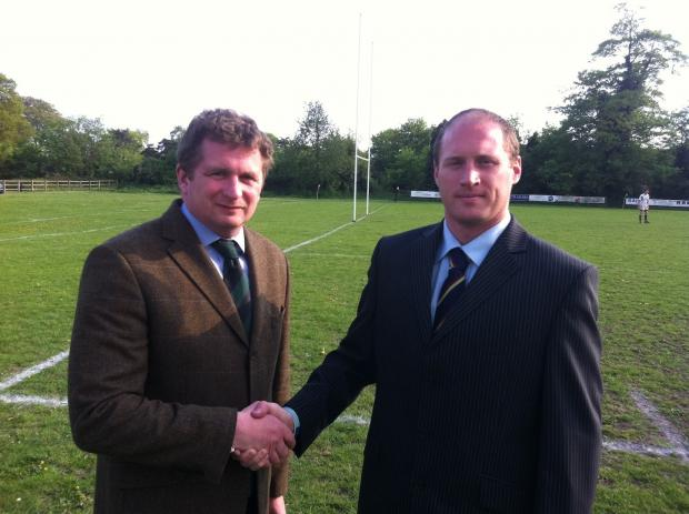 Salisbury Journal: Wheats chairman Philip Kennedy with Wiltshire Police captain Gareth Snoad