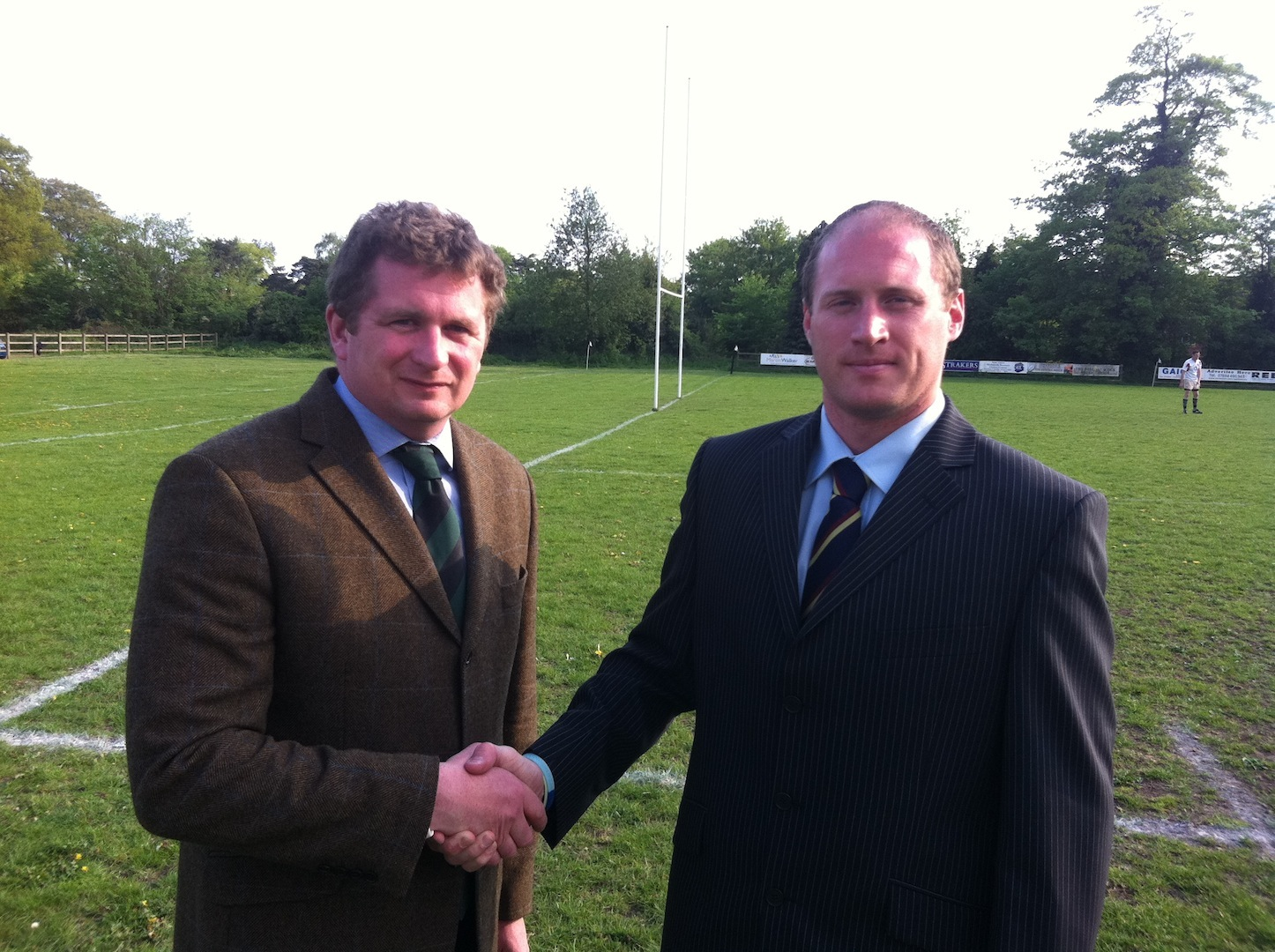 Wheats chairman Philip Kennedy with Wiltshire Police captain Gareth Snoad