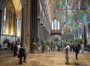 The flower festival in the cathedral.