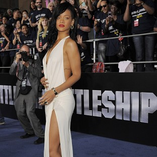 Rihanna rocked the red carpet at the LA premiere of Battle