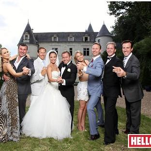 Strictly stars celebrate with outgoing dancer Katya Virshilas on her wedding day (Hello! Magazine/PA Wire)