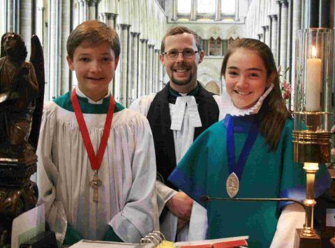 Children lead cathedral service
