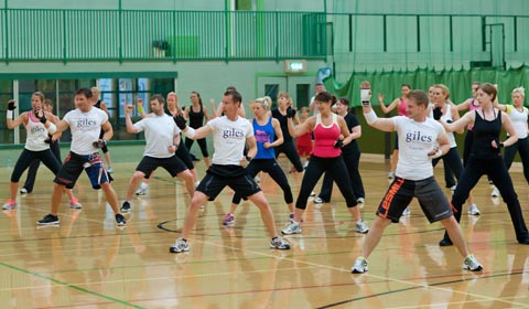 The three-hour body combat session led by instructor Matt Sinclair.