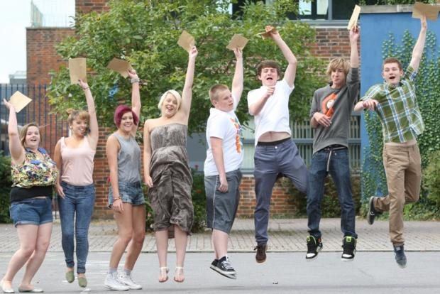 Pupils get their GCSE results