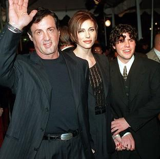 Sylvester Stallone with his girlfriend Jennifer Flavin and his son Sage (AP/Kevork Djansezian)