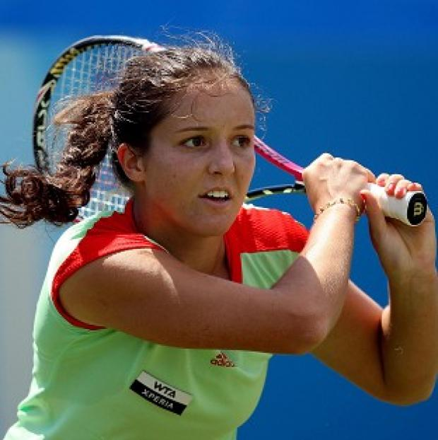 Salisbury Journal: Laura Robson, pictured, faces defending US Open champion Sam Stosur in the next round