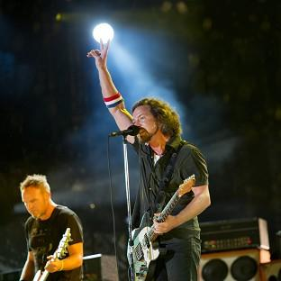 Pearl Jam perform at the Made In America music festival in Philadelphia (Drew Gurian/Invision/AP)