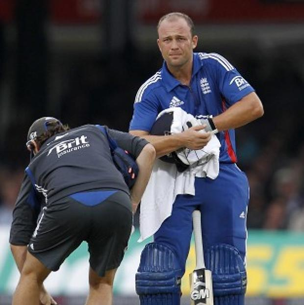 Jonathan Trott underwent a hand x-ray on Monday and remains doubtful for England