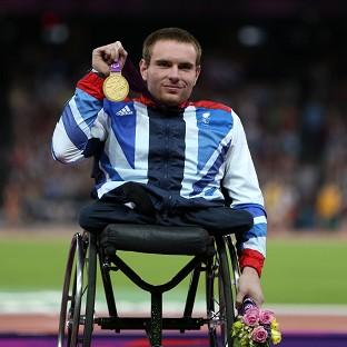 Mickey Bushell, pictured, says David Weir inspired him to win Paralympic gold