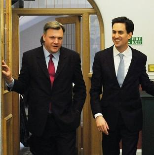 Labour leader Ed Miliband and shadow chancellor Ed Balls have been addressing a conference at the London Stock Exchange