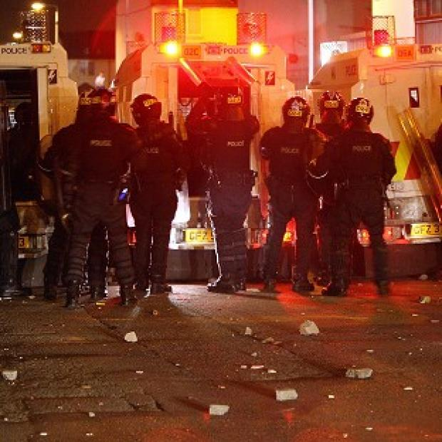 Police came under attack during three nights of rioting in Belfast earlier this week