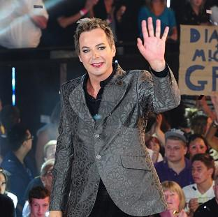 Julian Clary leaves the Celebrity Big Brother House after winning the show