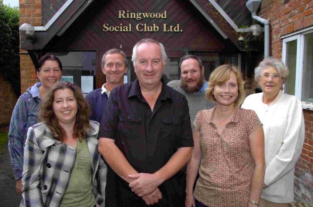 Salisbury Journal: Chairman Steve Baker (centre), secretary Helen Homewood (centre right) and members of the Ringwood Social Club committee are optimistic about the club's future. DC2096P2