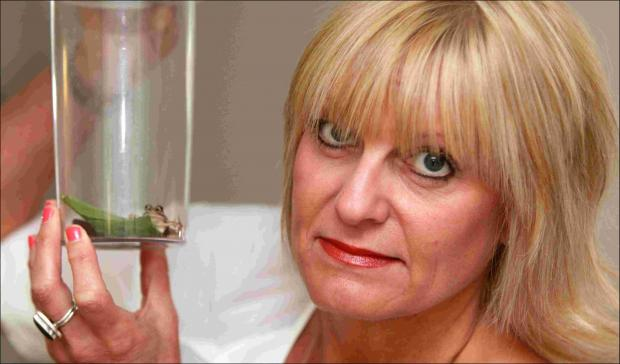 Christina Carrington with the frog.
