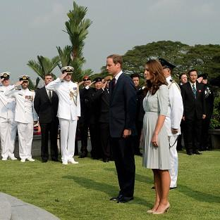 Salisbury Journal: The Duke and Duchess of Cambridge pay their respects at the Kranji War Memorial in Singapore (AP)