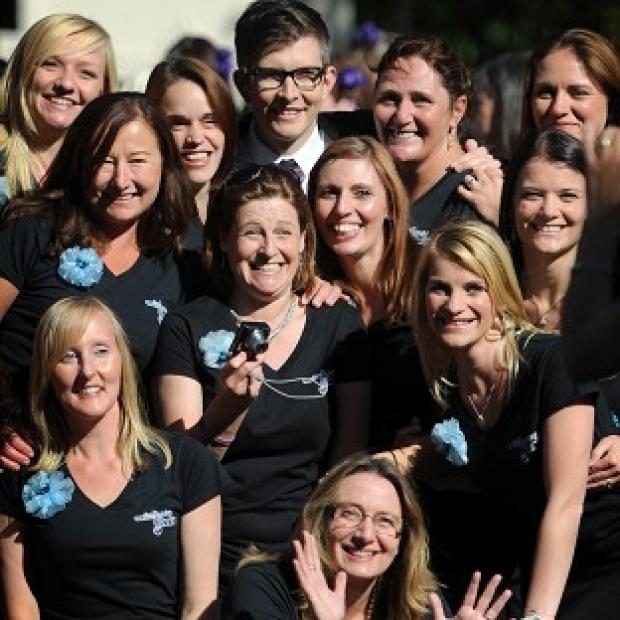 Gareth Malone joined the Military Wives Choir as they launched a new album