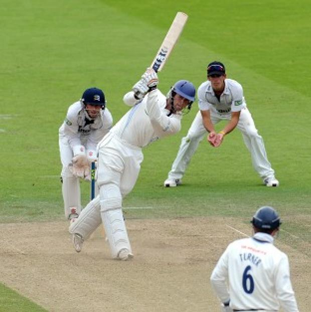 Derbyshire's Ross Whiteley had a day to remember as his county sealed promotion