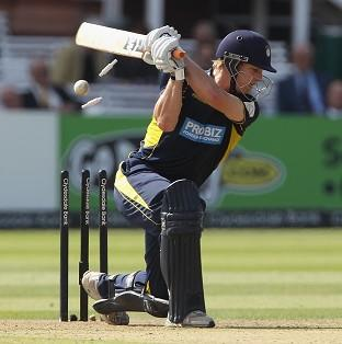 Jimmy Adams top-scored for Hampshire with 66