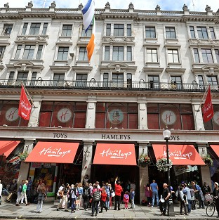 Hamleys in Regent Street, Britain's most famous toy shop, which has been sold to a French firm for an estimated 60 million pounds