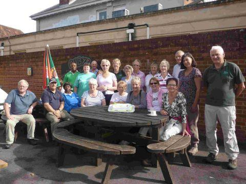 Birthday celebrations for walking group
