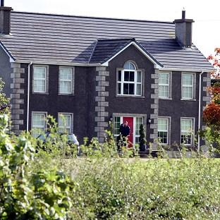 The family home on the farm on the outskirts of Hillsborough, Co Down, where Emma Spence tried to rescue her father and brothers