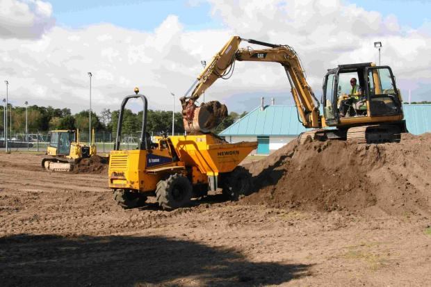 Work underway on new sports pitch