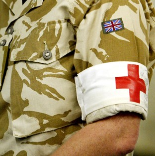 A British servicewoman who gave birth in Afghanistan is