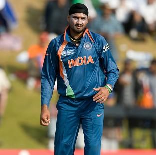 India's Harbhajan Singh took 4-12 as England were all out for just 80