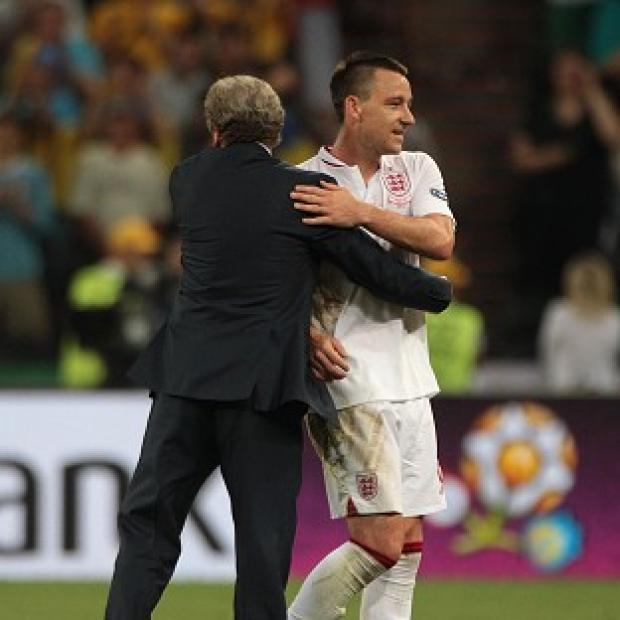 Salisbury Journal: Roy Hodgson, left, thanked John Terry for his service to the national team