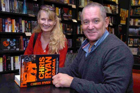 Chris Ryan signs books at Waterstones