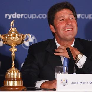 Jose Maria Olazabal, pictured, said Seve Ballesteros 'will be in our team in some way'