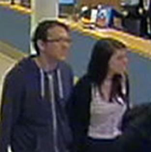 Salisbury Journal: CCTV footage issued by Sussex Police of missing teenager Megan Stammers and her maths teacher Jeremy Forrest