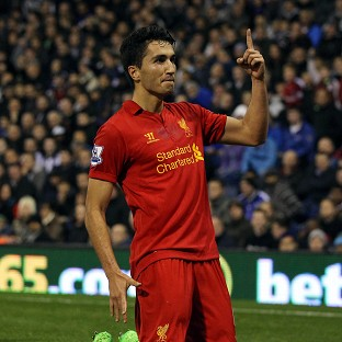 Nuri Sahin celebrates scoring Liverpool's winner